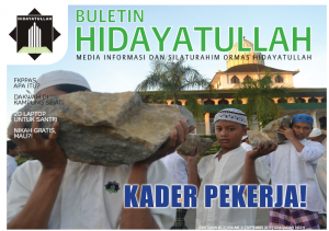 cover Hidayatullah Newsletter September 2014